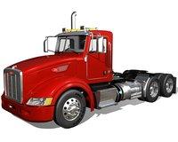 p386 semi truck 3D model