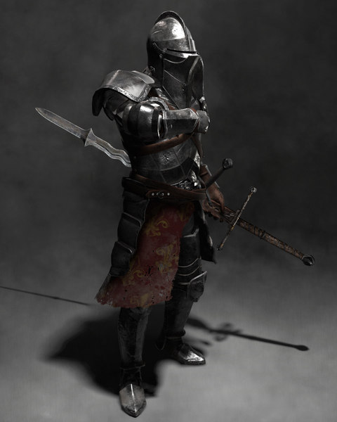 3D heavily armored landsknecht character model