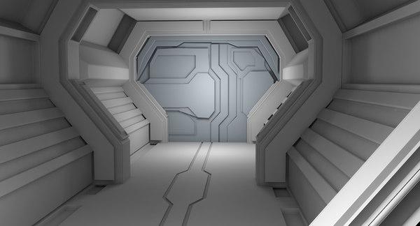sci fi interior 3D model