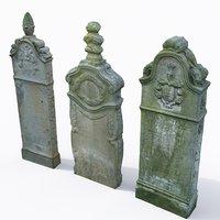 3D set tombstone