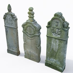 3D set tombstone