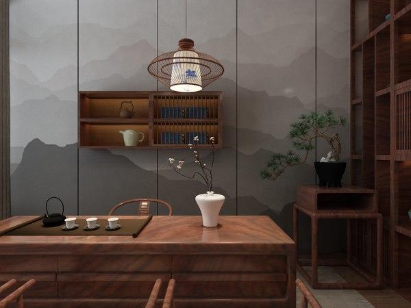 3D kitchen tea room designed model