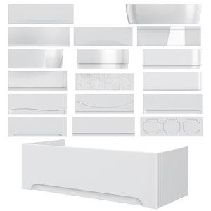bathtub panels set 75 3D model