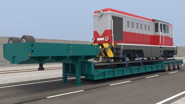 trailer locomotive model