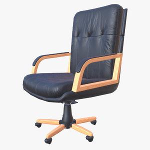leather armchair ready pbr 3D model