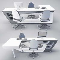 3D office table chair