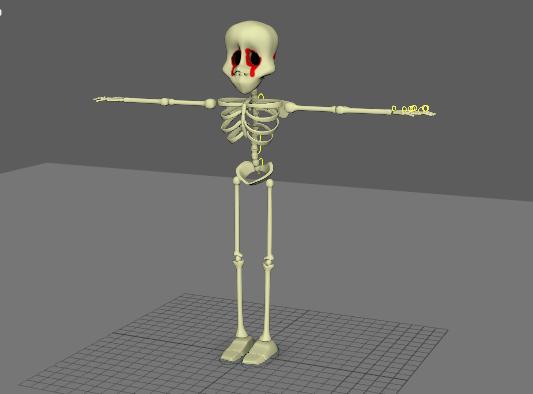 3D skeleton character model