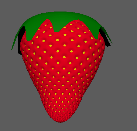 3D strawberry fruits