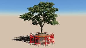 kartell master stool 3D