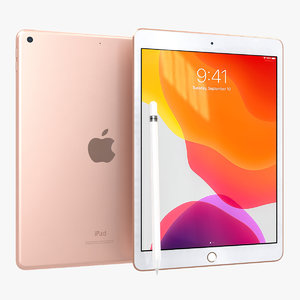 3D apple ipad 10 2 model