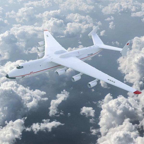 3D realistic antonov an-225 mriya