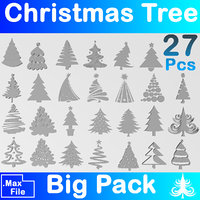 cristmas tree pack 3D