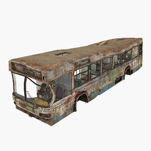 3D damaged bus type 01