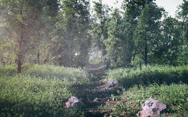 forest scene 3D model