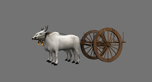 3D bullock cart model