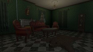 3D victorian living room pack model