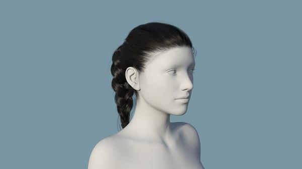 character hair model