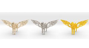 3D pegasus mythical winged model