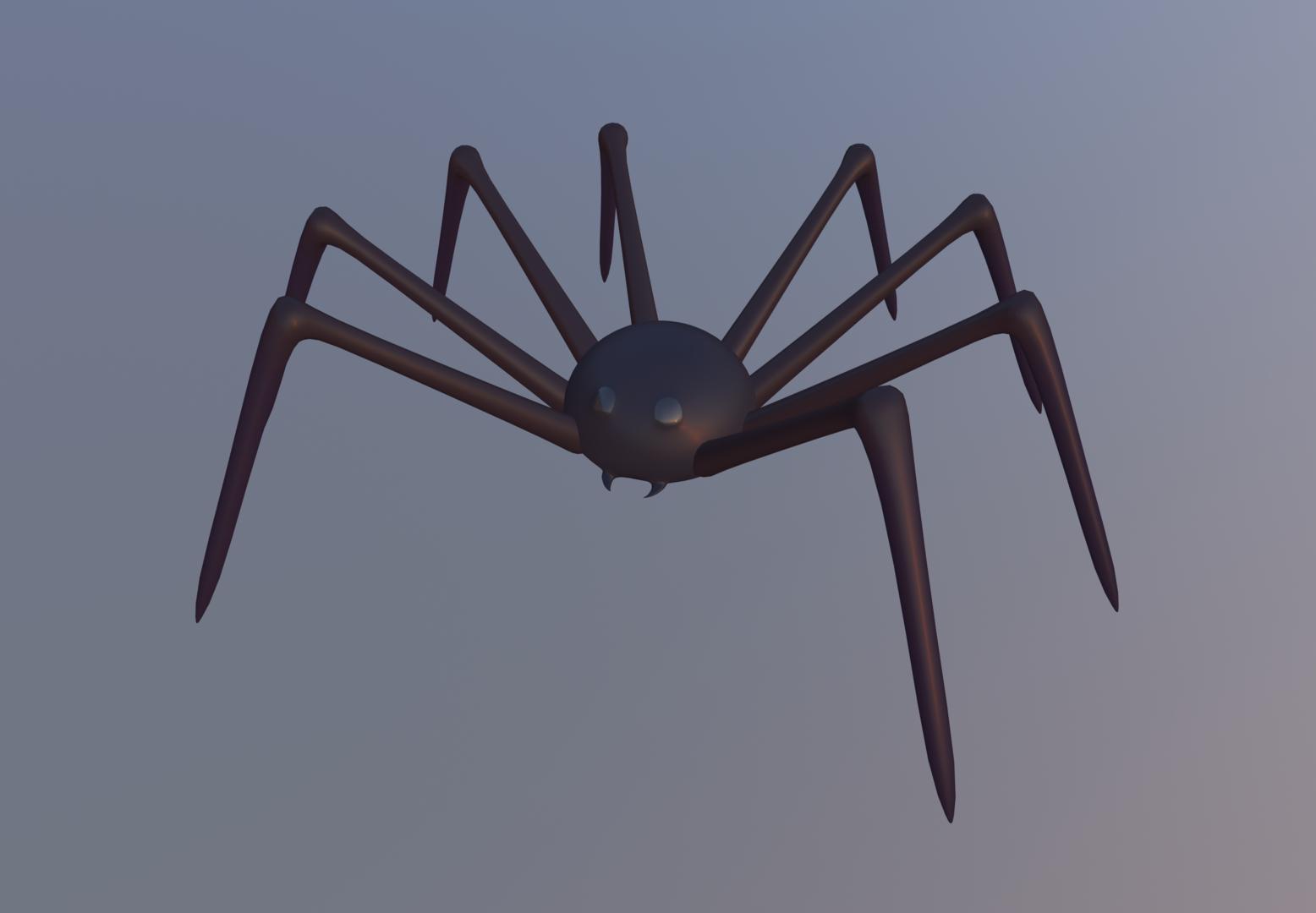 spider halloween 3D model