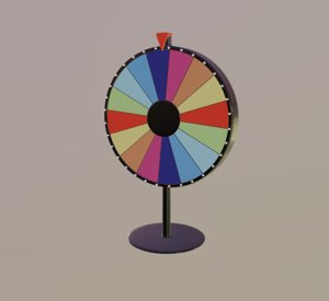 3D model colorful spinning wheel