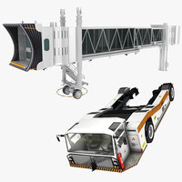 3D jetway towing tractor model