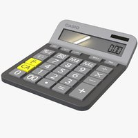 calculator work 3D model