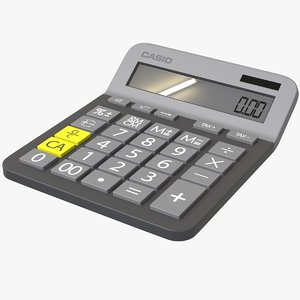 calculator work 3D model