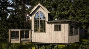 house treehouse tree 3D model