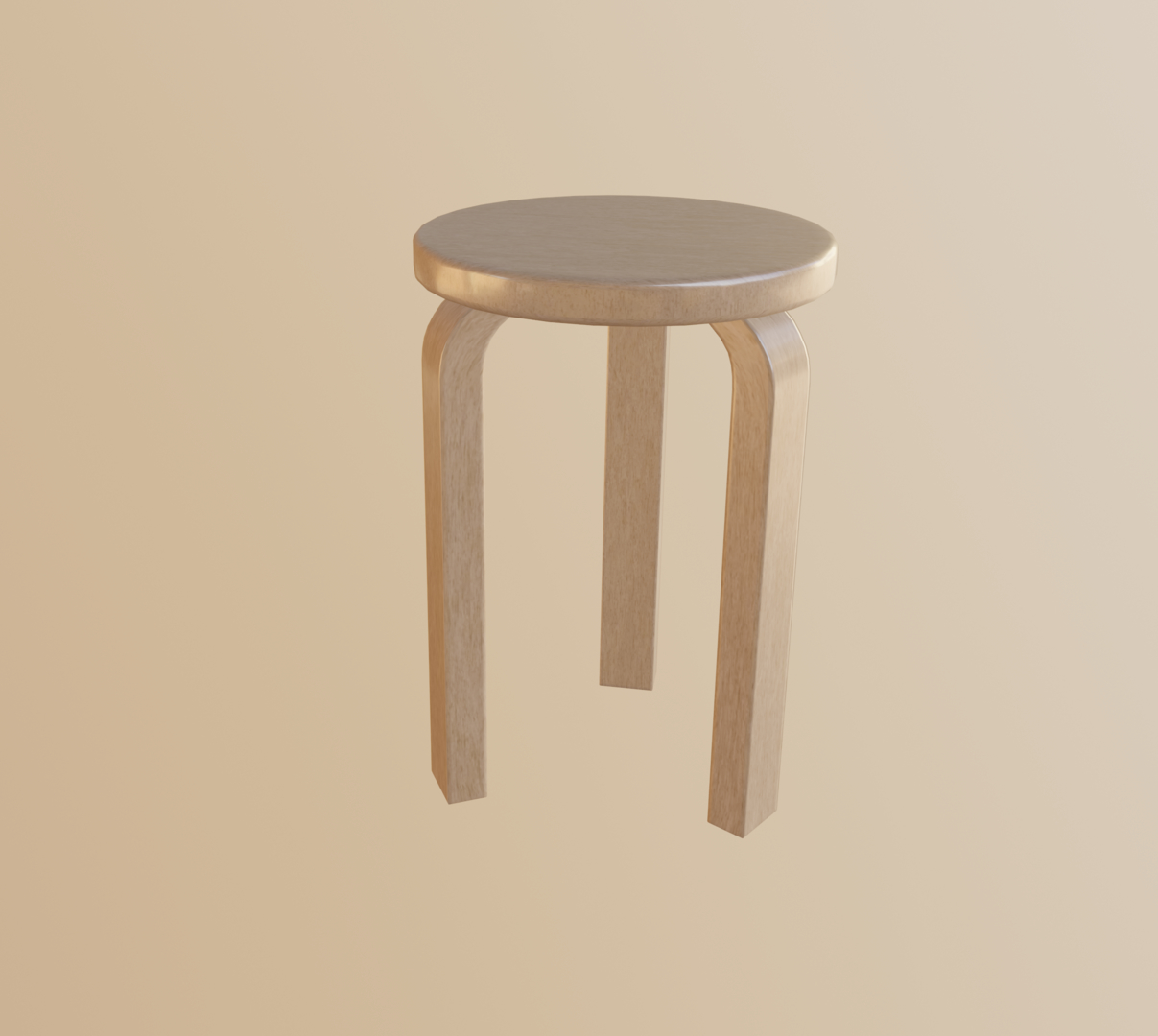 3D yellow stool