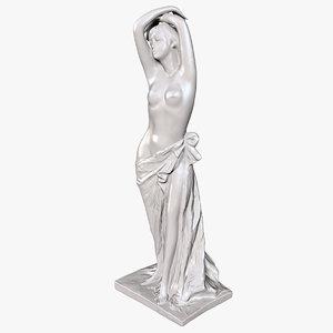 3D model female statue