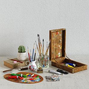 painting set 3D model