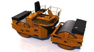 compactor vehicle 3D model