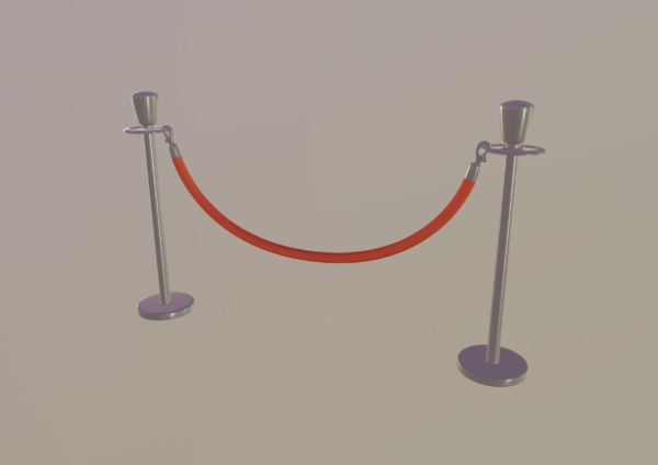 red stanchion 3D model