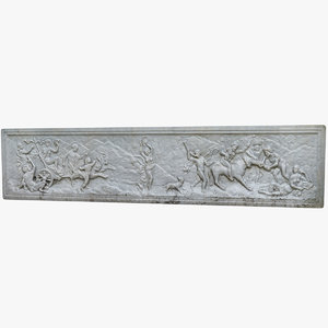 greek plaque relief 3D model