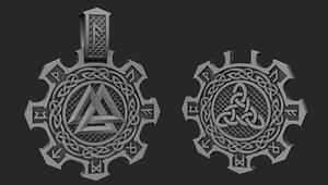 3D pendant runes