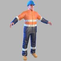 safety worker man 3D model