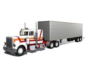 359 semi trailer truck 3d max