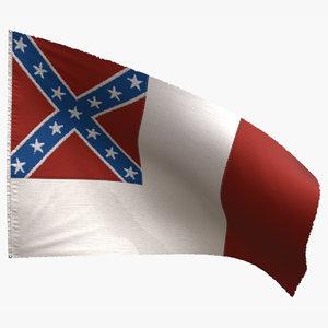 3D national flag model