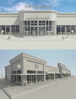 supermarket retail store 2 3D