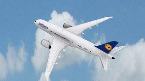 3D lufthansa air plane