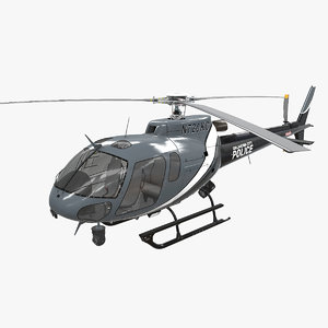 3D helicopter as-350 oklahoma city model