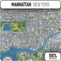 manhattan surrounding 3D model