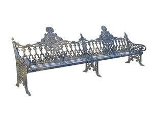 3D stylish bench hd
