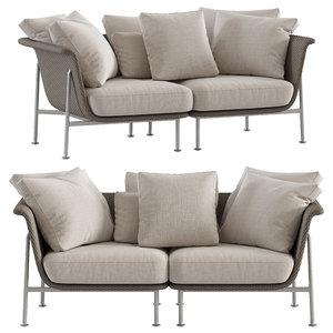 gina 2-seat sofa 3D model