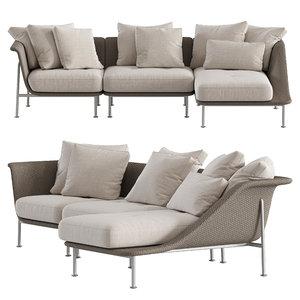 gina 3-seat sofa model
