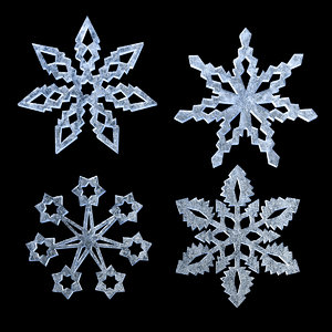 3D snowflakes christmas decoration model