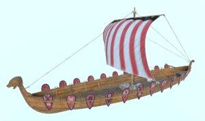 3D ushkuy vessel boat