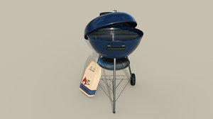 3D charcoal grill model