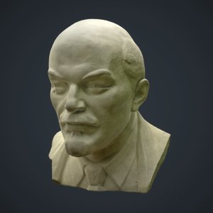 3D model bust lenin