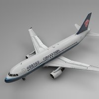 3D china southern airbus a320